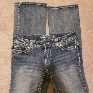 Paisley Sky boot cut jeans